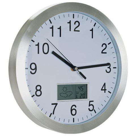 Tgt 72-Cw175 Tgt Weather Forecast Wall Clock - 12 Inch Aluminum - Peazz.com