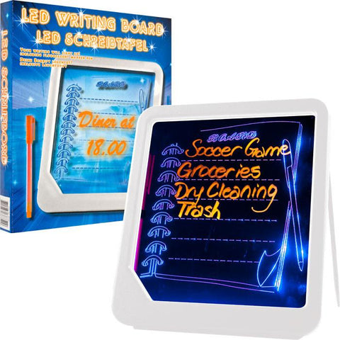 Trademark Commerce 72-GT125W LED Writing Menu Message Board by Trademark Home - White - Peazz.com