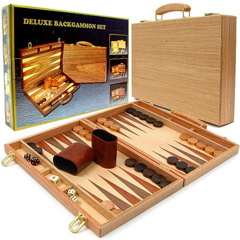 Trademark Games 723517 Deluxe Wooden Backgammon Set - Peazz.com