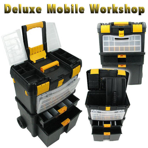 Trademark Commerce 75-2050 Trademark Tools Deluxe Mobile Workshop and Toolbox - Peazz.com