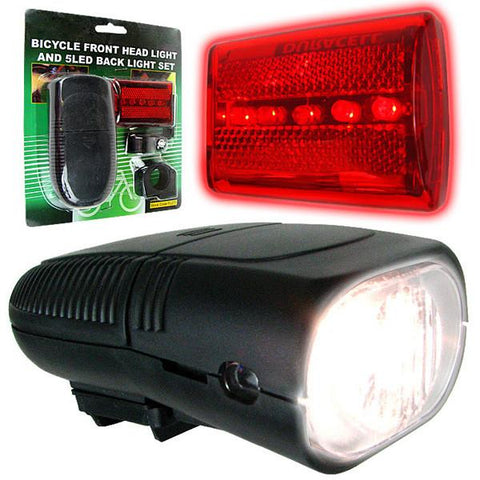 Bicycle Headlight and Taillight Set - Bicycle Accessories - Peazz.com
