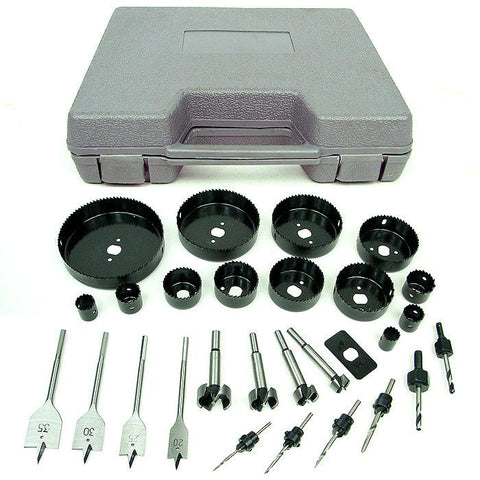 Trademark Commerce 75-3131 Trademark Tools Loaded 31 Piece Hole Saw and Drill Bit Kit - Peazz.com
