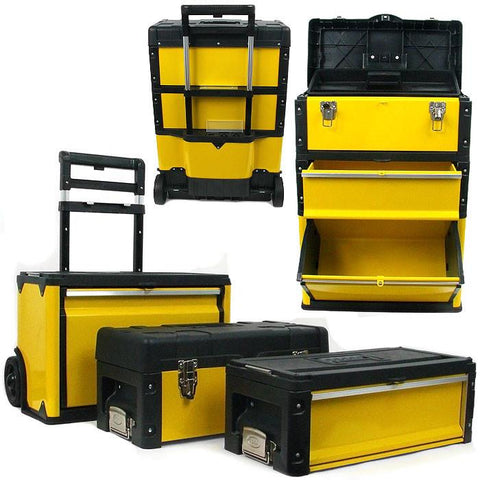 Trademark Commerce 75-4650 Trademark Tools Oversized Portable Tool Chest - Three Tool - Peazz.com