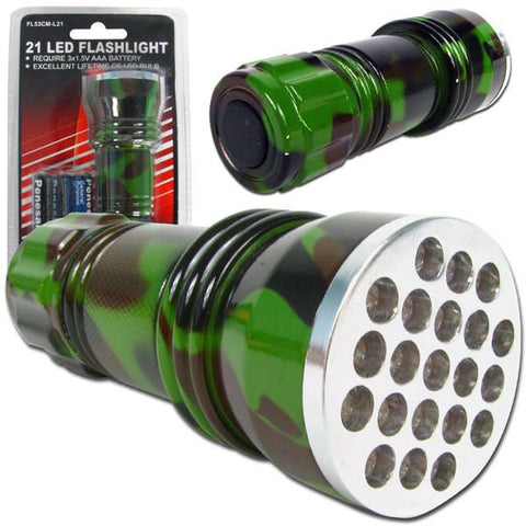 21 LED Camo Color Flashlight - Peazz.com