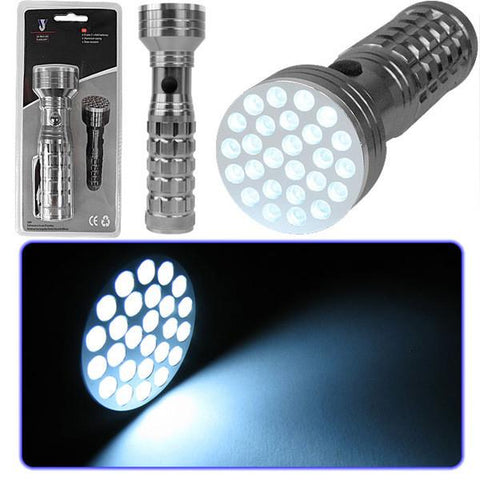 Super Bright 26 Bulb LED Flashlight Worklight - Peazz.com