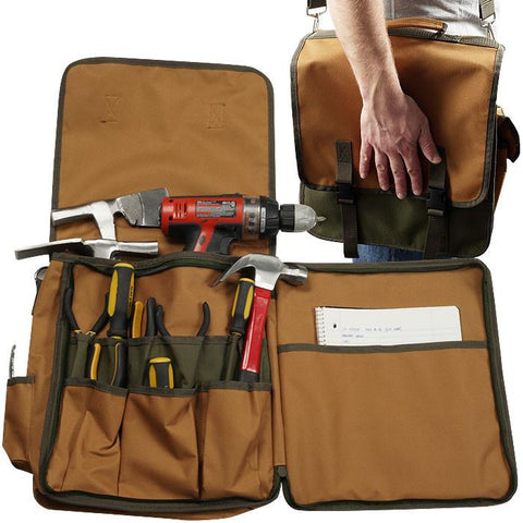 Trademark Commerce 75-AB71 Trademark Tools Rugged Nylon Tool Tote w/ Shoulder Strap - Peazz.com