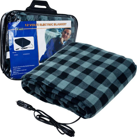 75-Bp700 Trademark Plaid Electric Blanket For Automobile - 12 Volt - Peazz.com