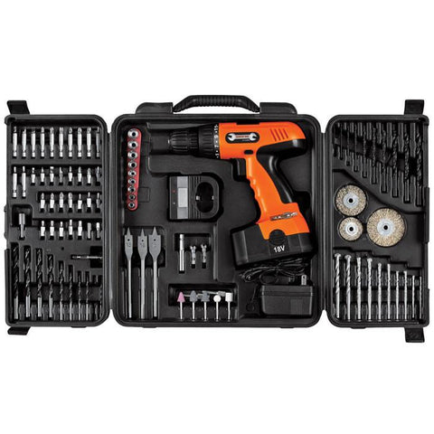Trademark Commerce 75-CD91 Trademark Tools 18V Cordless Drill Set - 89 pcs - Peazz.com