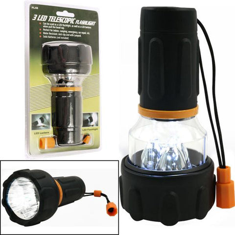 Super Bright 3 LED Flashlight / Lantern Combo - Peazz.com