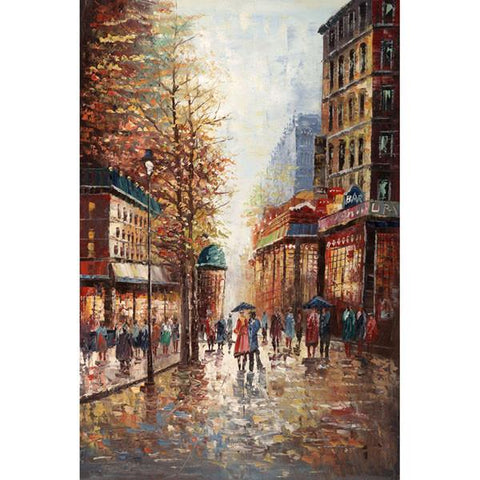 French Street Scene by Joval - Extra Large Artwork - Peazz.com