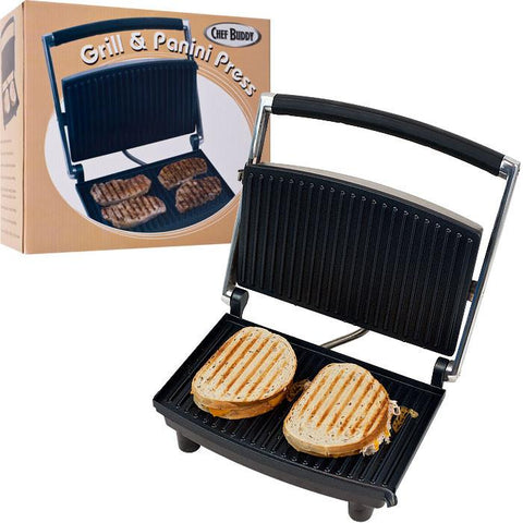Chef Buddy 80-1840 Chef Buddy Grill And Panini Press - Non-Stick - Peazz.com