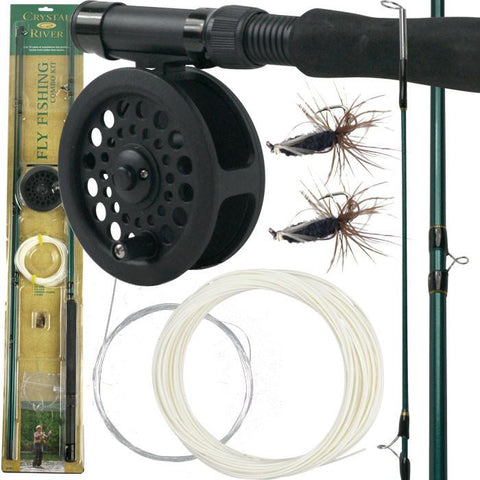Trademark Commerce 80-3135 Gone FishingT Crystal River Fly Fishing Combo Kit - Peazz.com