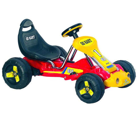 Trademark Commerce 80-665B Lil' Rider Red Racer Battery Powered Go-Kart - Peazz.com