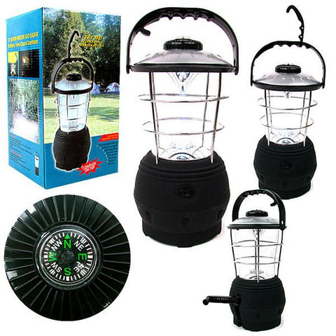 Super Bright Hand Crank Operated 12 LED Lantern - Peazz.com