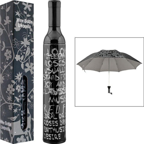 Trademark Home 80-Bu50 Trademark Home Wine Bottle Umbrella - Black & Silver - Peazz.com