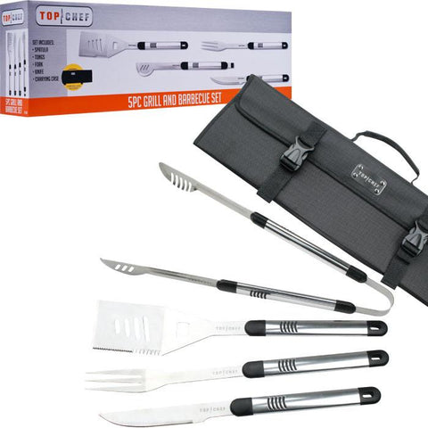 Top Chef 80-Tc06 Top Chef Stainless Steel Bbq Set - 5 Pieces - Peazz.com