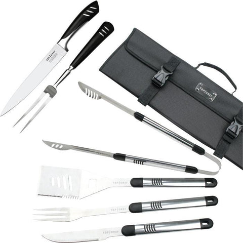 Top Chef 80-Tc0613 Top Chef Stainless Steel Bbq & Carving Sets - 7 Pieces - Peazz.com