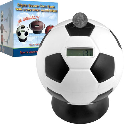 Trademark Commerce 80-TY78A Soccer Ball Digital Coin Counting Bank By Tgt - Peazz.com