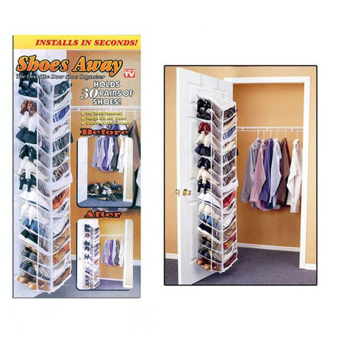 Shoes Away! Hanging Shoe Organizer - Peazz.com