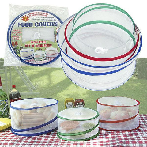 Set of 3 Pop Up Outdoor Food Covers - As Seen on TV - Peazz.com
