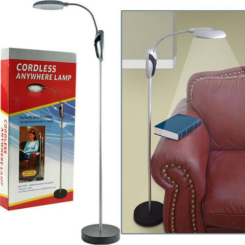 Super Bright Portable Lamp Stand with LED Lights - Cordless - Peazz.com