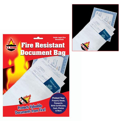Fire Resistant Document Bag - 9 inch by 14 inch - Peazz.com