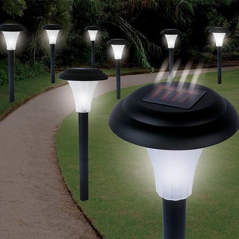 Set of 8 Bright Solar Accent Lights - Cordless - Peazz.com