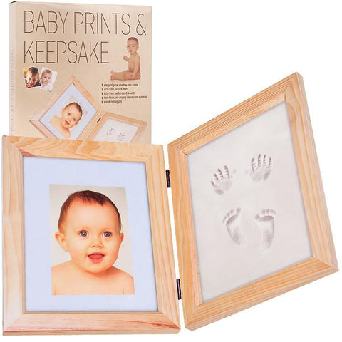 Trademark Commerce 82-89802 Baby Prints and Keepsake Desk Frame Kit by Trademark Home - Peazz.com
