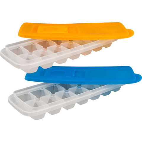 Chef Buddy 82-Y3434 Set Of 2 Ice Cube Trays With Lids By Chef Buddy - Peazz.com