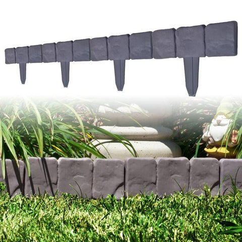 Terratrade 82-Yj459 10 Piece Cobblestone Flower Bed Border By Terratrade - Peazz.com