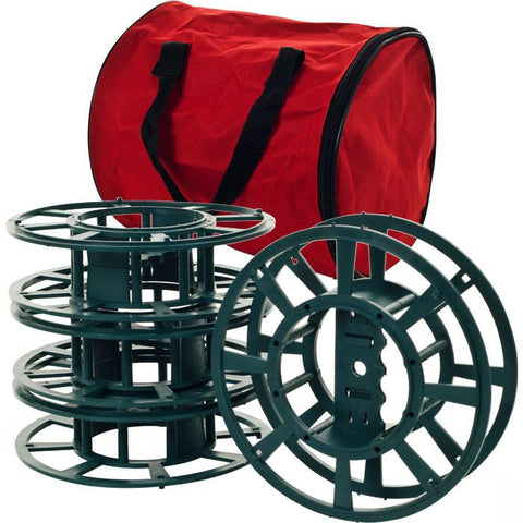 Trademark Home Collection 82-Yj811 Set Of 4 Extension Cord Or Christmas Light Reels With Bag - Peazz.com