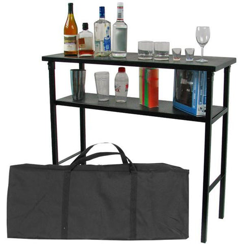 Deluxe Metal Portable Bar Table w/ Carrying Case - Peazz.com