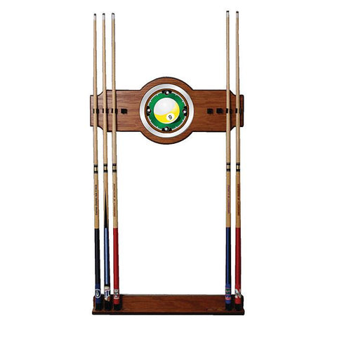 Trademark Commerce 9BL6000 Nine Ball 2 piece Wood and Mirror Wall Cue Rack - Peazz.com
