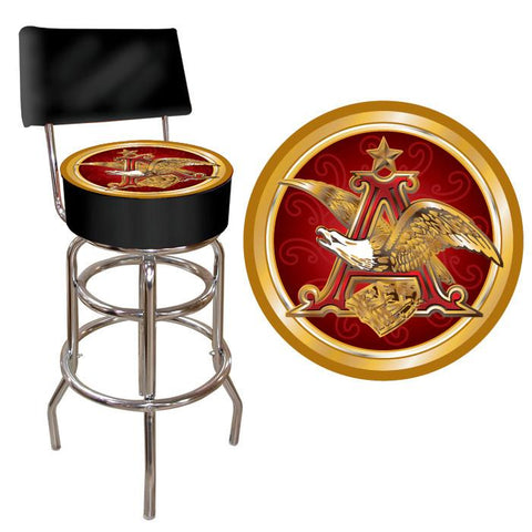 Trademark Commerce AB1100-AE Budweiser A & Eagle Padded Bar Stool with Back - Peazz.com