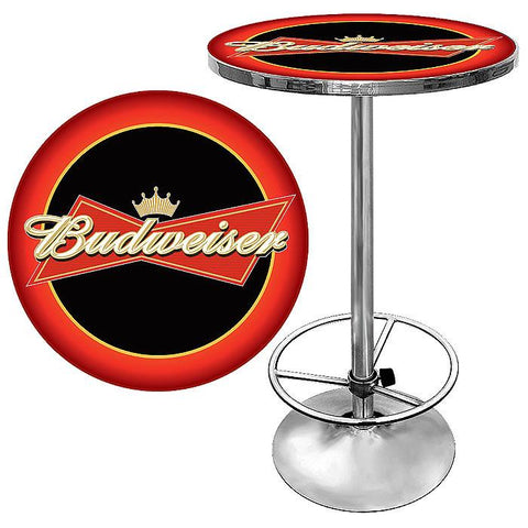 Trademark Commerce AB2000-BUD Budweiser Bowtie Red / Black Pub Table - Peazz.com