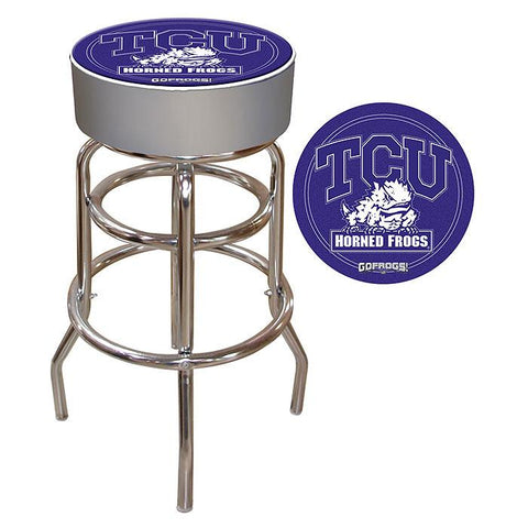 Trademark Commerce CLC1000-TCU Texas Christian University Padded Bar Stool - Peazz.com