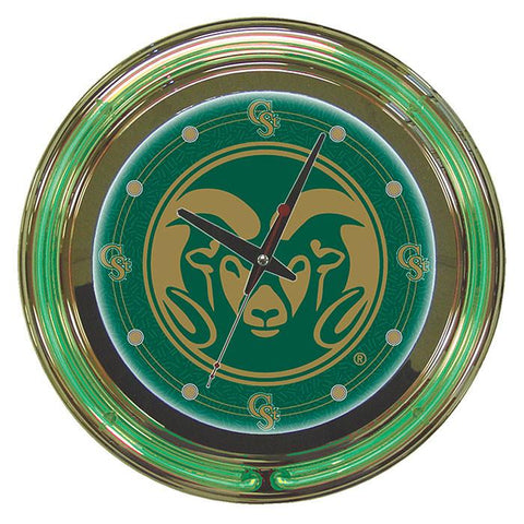 Trademark Commerce CLC1400-COST Colorado State University Neon Clock - 14 inch Diameter - Peazz.com