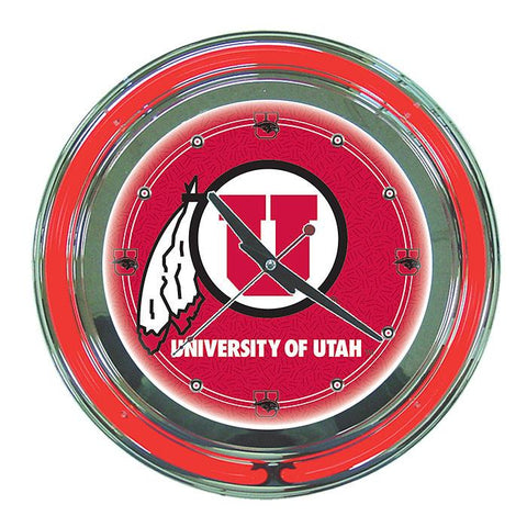 Trademark Commerce CLC1400-UTAH University of Utah Neon Clock - 14 inch Diameter - Peazz.com