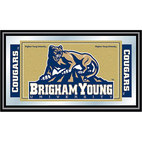 Trademark Commerce CLC1525-BYU BYU Logo and Mascot Framed Mirror - Peazz.com