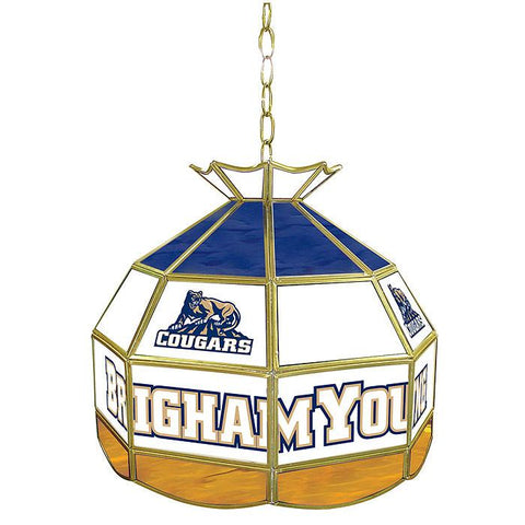 Trademark Commerce CLC1600-BYU BYU Stained Glass 16 Inch Tiffany Lamp - Peazz.com