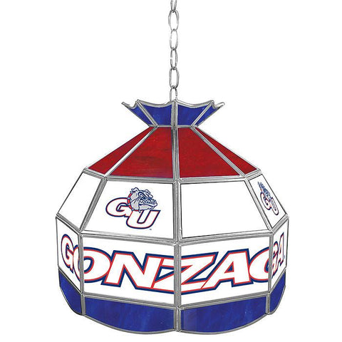 Trademark Commerce CLC1600-GU Gonzaga University Stained Glass 16 Inch Tiffany Lamp - Peazz.com