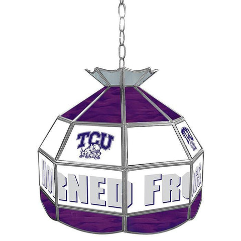 Trademark Commerce CLC1600-TCU Texas Christian U Stained Glass Tiffany Lamp - 16 Inch - Peazz.com