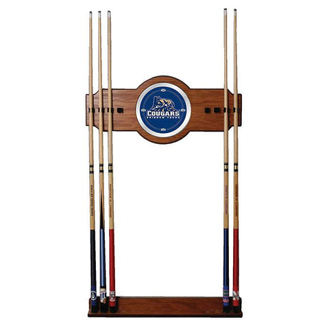 Trademark Commerce CLC6000-BYU BYU 2 Piece Wood and Mirror Wall Cue Rack - Peazz.com