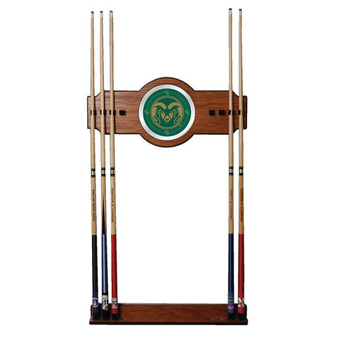 Trademark Commerce CLC6000-COST Colorado State University Wood and Mirror Wall Cue Rack - Peazz.com
