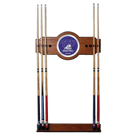 Trademark Commerce CLC6000-TCU Texas Christian University Wood & Mirror Wall Cue Rack - Peazz.com