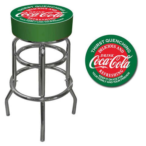 Trademark Commerce coke-1000-v15 Red and Green Coca Cola Pub Stool - Peazz.com