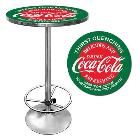 Trademark Commerce coke-2000-v15 Red & Green Coca Cola Pub Table - Peazz.com