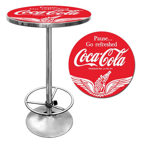 Trademark Commerce coke-2000-v16 Wings Coca Cola Pub Table - Peazz.com