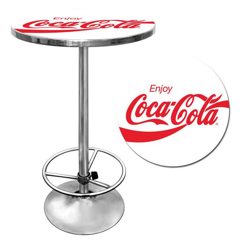 Trademark Commerce coke-2000-v17 Enjoy Coke White Pub Table - Peazz.com
