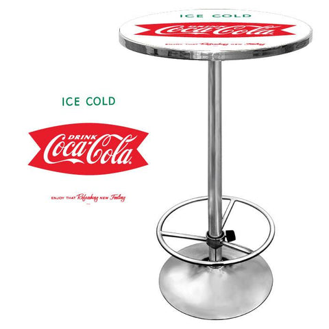 Trademark Commerce coke-2000-v8-s Vintage Coca-Cola Coke Pub Table - Ice Cold Design - Peazz.com